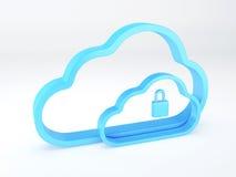 принципиальная схема облака 3d представляет обеспеченность бело иллюстрация вектора