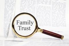 Принципиальная схема доверия семьи стоковая фотография