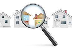 Принципиальная схема поиска дома стоковые изображения