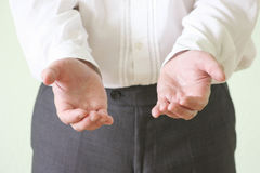 Принципиальная схема правосудия Руки человека стоковое изображение rf