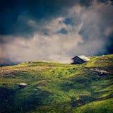Принципиальная схема предпосылки пейзажа спокойствия спокойная сиротливая Стоковая Фотография RF