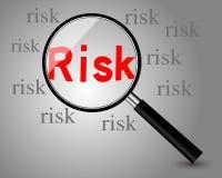 принципиальная схема предпосылки 3d представила риск белым Стоковое Изображение RF