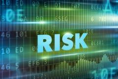 принципиальная схема предпосылки 3d представила риск белым Стоковое фото RF