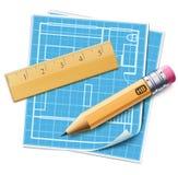 Принципиальная схема планирования плана дома Стоковые Фотографии RF