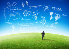 Принципиальная схема планированиe бизнеса стоковое изображение rf