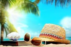 Принципиальная схема пляжа Стоковая Фотография