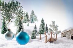 Принципиальная схема рождества Стоковые Фотографии RF