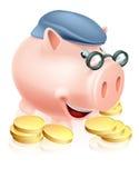 Принципиальная схема сбережений пенсионера Стоковое Фото