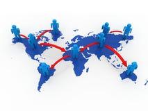 Принципиальная схема сети глобального дела Стоковое фото RF
