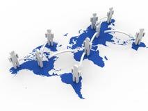 Принципиальная схема сети глобального дела Стоковое Изображение RF