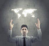 Принципиальная схема современного глобального бизнеса Стоковое Изображение RF