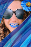 Голубая тенденция лета стоковое фото