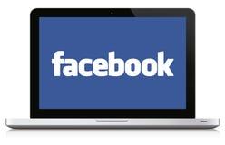 Принципиальная схема средств массовой информации Facebook социальная Стоковая Фотография RF