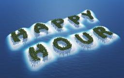 Принципиальная схема счастливого часа Стоковые Фотографии RF
