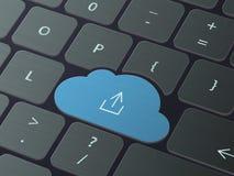 Принципиальная схема технологии облака иллюстрация вектора