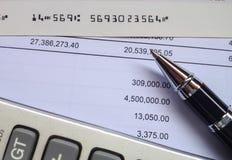 Принципиальная схема финансов и бухгалтерии Стоковые Фотографии RF