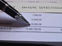 Принципиальная схема финансов и бухгалтерии Стоковое фото RF