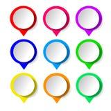 Принципиальная схема цветастых знамен для различной конструкции дела также вектор иллюстрации притяжки corel иллюстрация штока