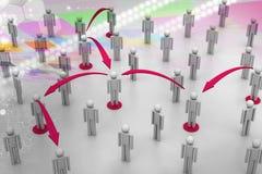 принципиальная схема цифрово произвела высокий social res сети изображения Стоковая Фотография RF