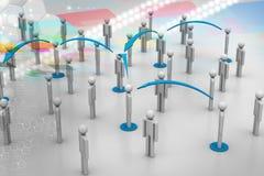 принципиальная схема цифрово произвела высокий social res сети изображения Стоковые Фотографии RF