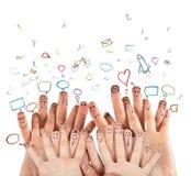 принципиальная схема цифрово произвела высокий social res сети изображения Стоковая Фотография