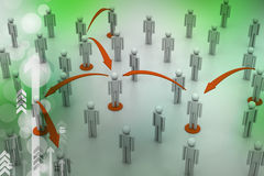 принципиальная схема цифрово произвела высокий social res сети изображения Стоковое Изображение RF