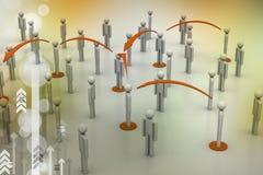 принципиальная схема цифрово произвела высокий social res сети изображения Стоковые Изображения RF