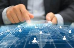 принципиальная схема цифрово произвела высокий social res сети изображения Стоковое Изображение