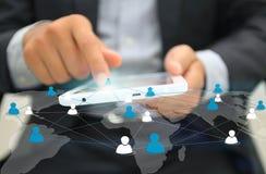 принципиальная схема цифрово произвела высокий social res сети изображения Стоковые Изображения