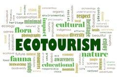 Принципиальная схема экологического туризма стоковая фотография rf