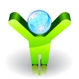 Принципиальная схема экологичности Стоковая Фотография RF