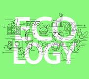 принципиальная схема экологичности Стоковые Изображения