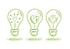 Принципиальная схема энергии влюбленности и сбережений Стоковая Фотография RF