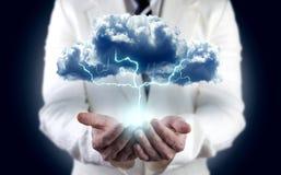 Принципиальная схема энергии и электричества Стоковая Фотография RF