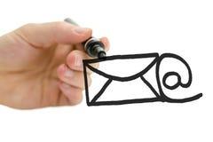 Принципиальная схема электронной почты Стоковые Фотографии RF