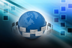 Принципиальная схема электронной почты Стоковые Изображения RF