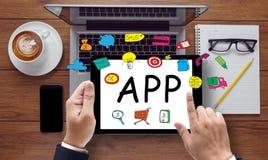 Принципиальная схема Apps стоковое фото