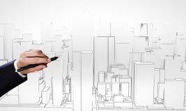 принципиальная схема 3d проектируя максимум представляет разрешение Стоковые Изображения