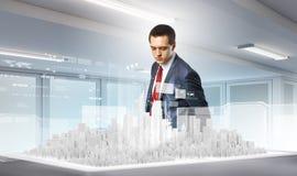 принципиальная схема 3d проектируя максимум представляет разрешение Стоковые Фото