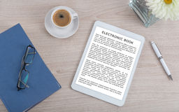 Принципиальная схема Ebook Стоковая Фотография