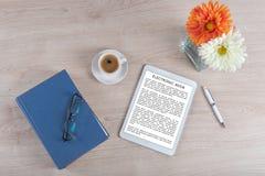 Принципиальная схема Ebook Стоковое фото RF