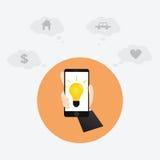 Принципиальная схема Smartphone Стоковые Изображения RF