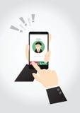 Принципиальная схема Smartphone Стоковое Изображение RF