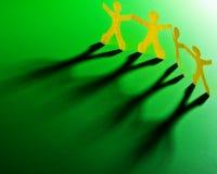 Принципиальная схема Teamworking Стоковое Изображение