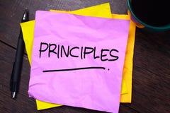 Принципы, мотивационная концепция цитат слов стоковые фото