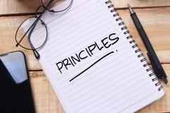 Принципы, мотивационная концепция цитат слов стоковые изображения rf