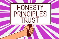 Принципы честности сочинительства текста почерка доверяют что смысл концепция веря кто-то формулирует как должное говорить челове иллюстрация вектора