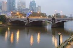 Принцы Мост через реку Yarra в Мельбурне стоковая фотография rf