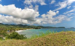 Принцы преследуют - пляж Roxborough тропический - карибский остров - Тобаго стоковое изображение rf