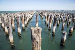Принцы Пристань в порте Мельбурне стоковые изображения rf